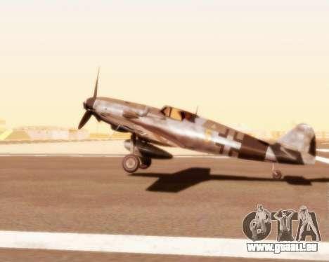 Bf-109 G10 pour GTA San Andreas vue de droite