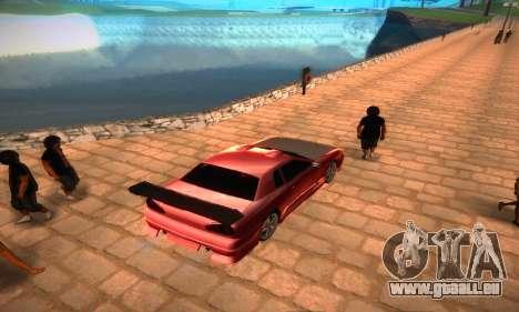 Elegy Hybrid pour GTA San Andreas sur la vue arrière gauche