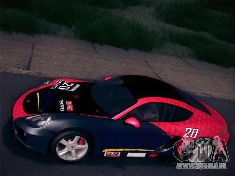 Porsche Cayman S 2014 für GTA San Andreas Unteransicht