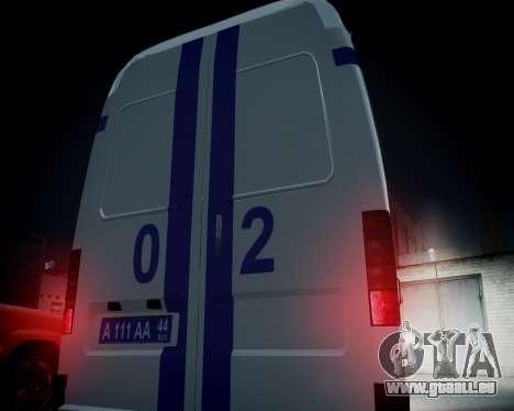 Gazelle 2705 Polizei für GTA 4 Seitenansicht
