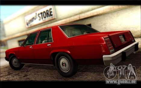 Ford LTD Crown Victoria 1987 für GTA San Andreas rechten Ansicht