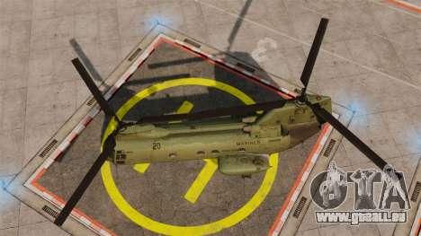 Boeing CH-46D Sea Knight für GTA 4 rechte Ansicht