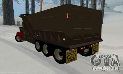 Peterbilt 379 Dump Truck für GTA San Andreas zurück linke Ansicht