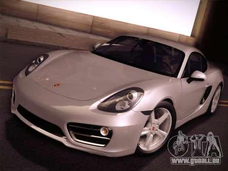 Porsche Cayman S 2014 pour GTA San Andreas vue intérieure