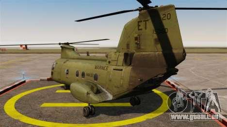 Boeing CH-46D Sea Knight für GTA 4 hinten links Ansicht