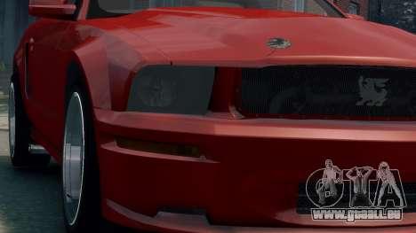 Shelby Terlingua Mustang pour GTA 4 Vue arrière