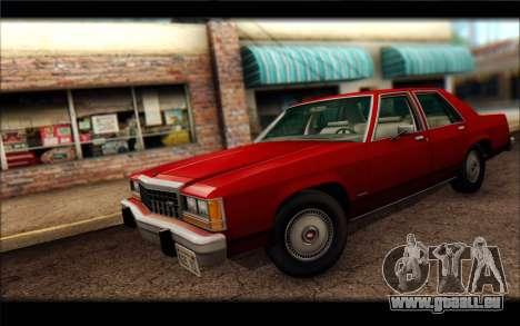 Ford LTD Crown Victoria 1987 pour GTA San Andreas sur la vue arrière gauche