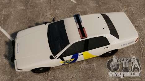 GTA V Police Vapid Cruiser Alderney state für GTA 4 rechte Ansicht