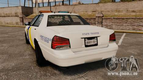 GTA V Police Vapid Cruiser Alderney state pour GTA 4 Vue arrière de la gauche