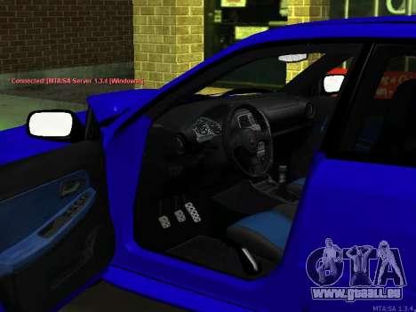 Subaru Impreza WRX STi pour GTA San Andreas laissé vue