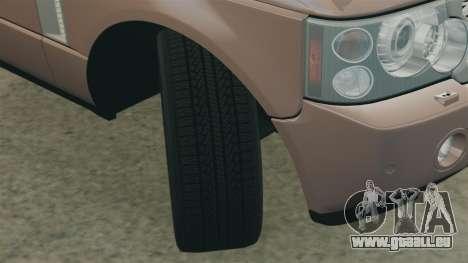 Range Rover Supercharged pour GTA 4 est un côté