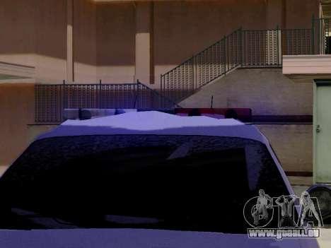 Nord Yanton Polizei Esperanto von GTA 5 für GTA San Andreas Rückansicht