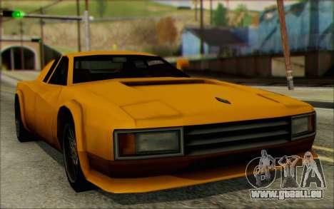 VC Cheetah pour GTA San Andreas sur la vue arrière gauche