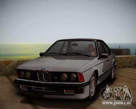 BMW E24 M635 1984 pour GTA San Andreas vue de droite