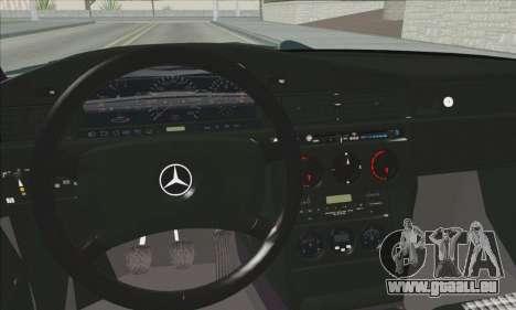 Mercedes-Benz 190E Evolution Police pour GTA San Andreas vue arrière