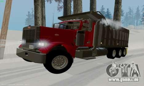 Peterbilt 379 Dump Truck pour GTA San Andreas laissé vue