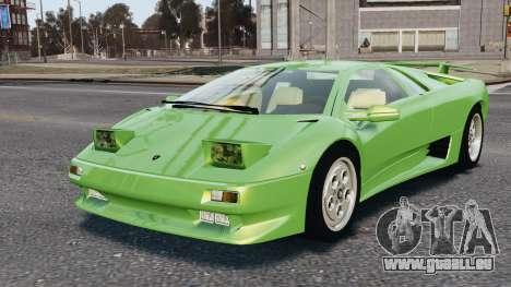 Lamborghini Diablo VT 1994 für GTA 4 Unteransicht