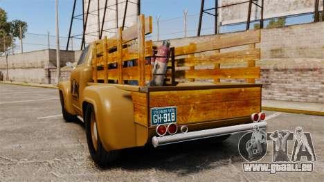 Hot Rod Truck Gas Monkey für GTA 4 hinten links Ansicht