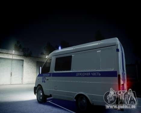 Gazelle 2705 Polizei für GTA 4 Innenansicht