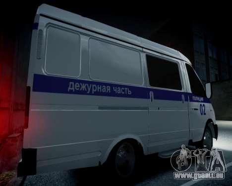 Gazelle 2705 Polizei für GTA 4 Rückansicht