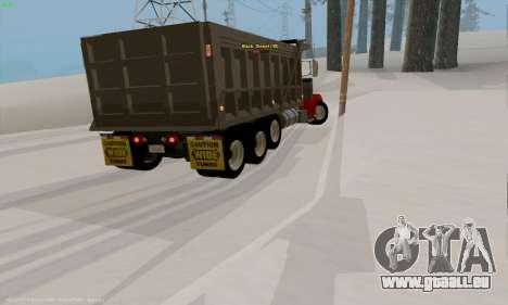 Peterbilt 379 Dump Truck pour GTA San Andreas vue de droite