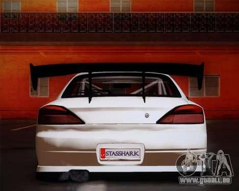 Nissan Silvia S15 JDM pour GTA San Andreas vue arrière