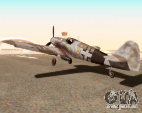 Bf-109 G10 für GTA San Andreas linke Ansicht