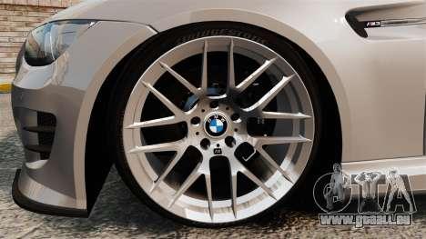 BMW M3 E92 GTS 2010 pour GTA 4 Vue arrière