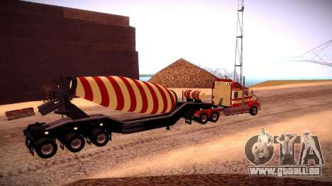 Cement Mixer für GTA San Andreas zurück linke Ansicht