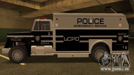 Enforcer HD from GTA 3 pour GTA San Andreas sur la vue arrière gauche