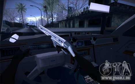 Police North Yankton pour GTA San Andreas vue intérieure