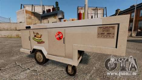 Nouvelles textures de charrettes de Hot-Dog pour GTA 4 quatrième écran
