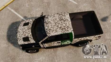 Ford F-150 SVT Raptor 2011 ArmyRat für GTA 4 rechte Ansicht