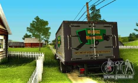GMC Top Kick C4500 Dryvan House Movers 2008 für GTA San Andreas Seitenansicht