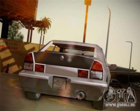 GTA III Kuruma pour GTA San Andreas vue arrière