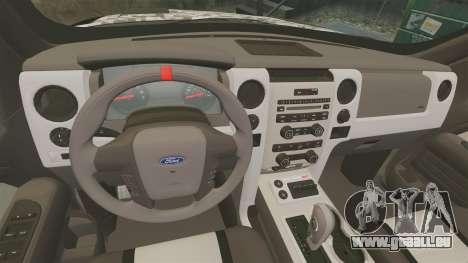 Ford F-150 SVT Raptor 2011 ArmyRat für GTA 4 Innenansicht