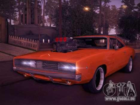 Dodge Charger RT V2 pour GTA San Andreas laissé vue