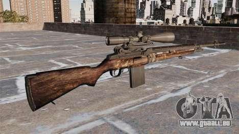 Fusil de sniper M21 pour GTA 4 secondes d'écran