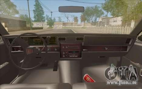 Chevrolet Caprice 1989 Station Wagon pour GTA San Andreas vue arrière