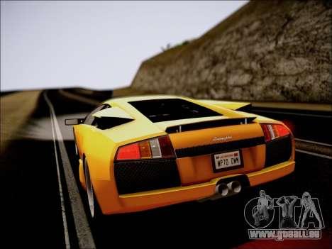 Lamborghini Murciélago 2005 pour GTA San Andreas vue intérieure