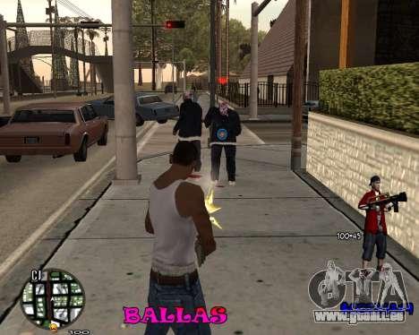 HUD The Ballas By Santiago pour GTA San Andreas