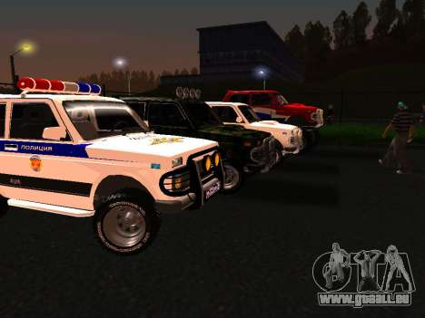 VAZ 212140 Police pour GTA San Andreas laissé vue