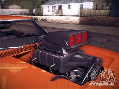 Dodge Charger RT V2 pour GTA San Andreas vue arrière