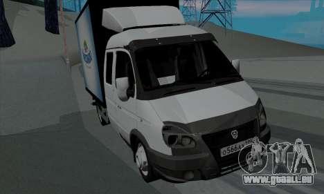 Entreprise Gazelle 33023 pour GTA San Andreas laissé vue