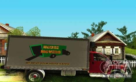 GMC Top Kick C4500 Dryvan House Movers 2008 für GTA San Andreas Rückansicht