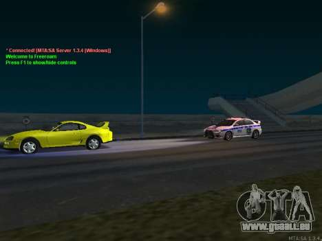 Mitsubishi Lancer X Police pour GTA San Andreas vue de côté