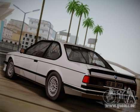 BMW E24 M635 1984 pour GTA San Andreas sur la vue arrière gauche