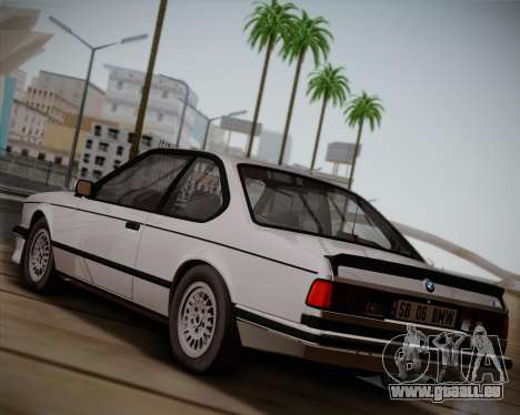 BMW E24 M635 1984 für GTA San Andreas zurück linke Ansicht