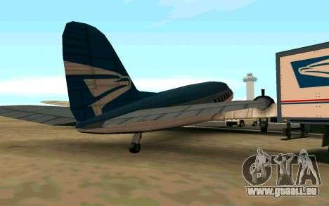 Ein US-Flugzeug für GTA San Andreas zurück linke Ansicht