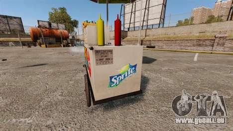 Nouvelles textures de charrettes de Hot-Dog pour GTA 4 sixième écran